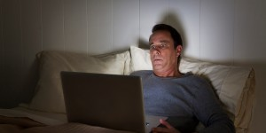 Using Technology At Night in Bed